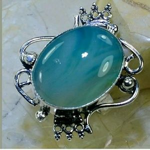 Botswana Agate ~ Handcrafted 925 Ring 7